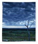 Tidal Marsh View Fleece Blanket