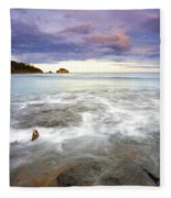 Tide Covered Pavement Fleece Blanket