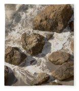Tide Pools Of Shell Beach California Fleece Blanket