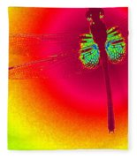 Tie Dye Dragonfly Fleece Blanket