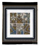 Tied To My Concrete Garden - Kaleidoscope - Hexaptych Fleece Blanket