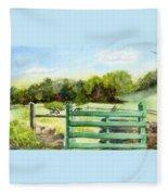 Tiffany Farms East Gate Fleece Blanket