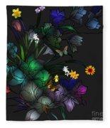 Tiffany Floral Design Fleece Blanket