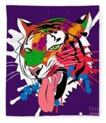 Tiger 11 Fleece Blanket