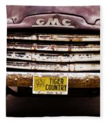 Tiger Country - Purple And Old Fleece Blanket