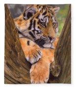 Tiger Cub Painting Fleece Blanket
