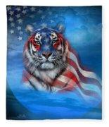 Tiger Flag Fleece Blanket