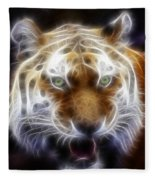 Tiger Greatness Digital Painting Fleece Blanket