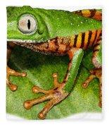 Tiger-legged Monkey Frog Fleece Blanket