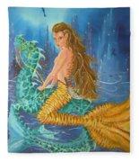 Tiger Lily Tails Fleece Blanket