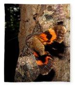 Tiger Moth Flight Fleece Blanket