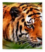 Tiger Painting Fleece Blanket