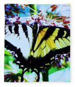 Tiger Swallowtail Butterfly  Fleece Blanket