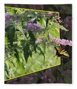 Tiger Swallowtail Oob-featured In Beautycaptured-oof-harmony And Happiness Fleece Blanket