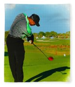 Tiger Woods  - Second Round Of The Honda Classic Fleece Blanket