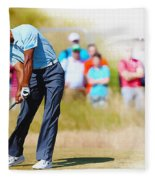 Tiger Woods - The British Open Golf Championship Fleece Blanket