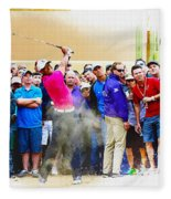 Tiger Woods - The Waste Management Phoenix Open At Tpc Scottsdal Fleece Blanket