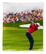 Tiger Woods - The Waste Management Phoenix Open  Fleece Blanket
