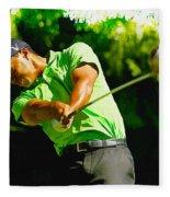Tiger Woods - Wgc- Cadillac Championship Fleece Blanket
