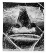 Tiki Mask Negative Fleece Blanket