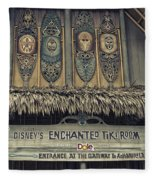 Tiki Room Adventureland Disneyland Fleece Blanket