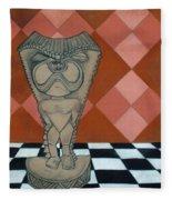 Tiki Statue Art Fleece Blanket