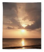 Tiki Sunset 1 Fleece Blanket
