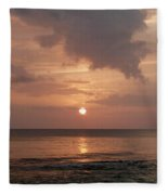 Tiki Sunset 2 Fleece Blanket