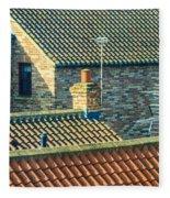 Tile Roofs - Thirsk England Fleece Blanket