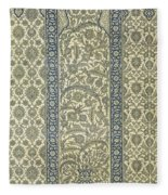 Tiled Panel From Mosque Of Ibrahym Agha From Arab Art As Seen Through The Monuments Of Cairo Fleece Blanket