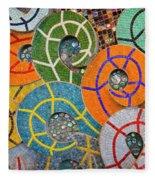 Tiled Swirls Fleece Blanket