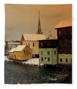 Tilton On The Winnipesaukee Fleece Blanket