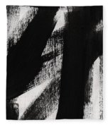 Timber- Vertical Abstract Black And White Painting Fleece Blanket