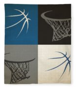 Timberwolves Ball And Hoop Fleece Blanket