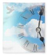 Time Flies Fleece Blanket