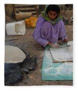 Time For Baking Bread Sinai Desert Egypt Fleece Blanket