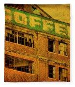 Time For Coffee Fleece Blanket