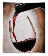 Time For Wine Fleece Blanket