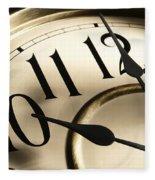 Time Goes By Fleece Blanket