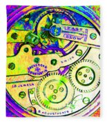 Time In Abstract 20130605m144 Square Fleece Blanket