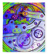 Time In Abstract 20130605m36 Square Fleece Blanket