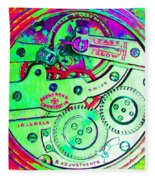Time In Abstract 20130605m72 Square Fleece Blanket