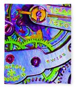 Time In Abstract 20130605p36 Fleece Blanket