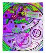 Time In Abstract 20130605p72 Square Fleece Blanket