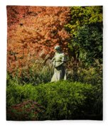 Time In The Garden Fleece Blanket