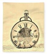 Time In The Sand In Sepia Fleece Blanket