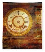 Time Marching Fleece Blanket