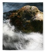 Time Rushing By Fleece Blanket
