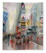 Time Square New York Fleece Blanket