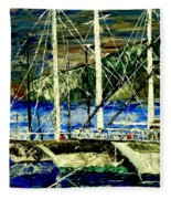 Time To Sail  Fleece Blanket